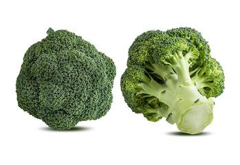 Fototapete - Broccoli isolated on white background.