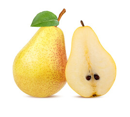 Fototapete - Pear isolated on white background