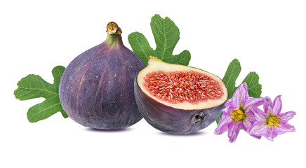 Fototapete - Figs isolated on a white background.