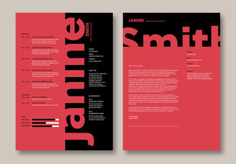 Bold Red and Black Resume Layout