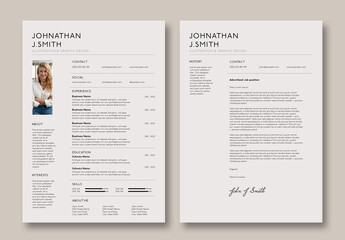 Contemporary Resume Layout