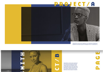 Presentation Layout with Yellow and Blue