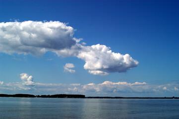 Bay Water Landscape Clouds