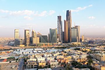 King Abdullah Financial District in Riyadh Saudi Arabia
