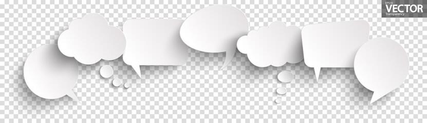 Fototapeta sticker speech bubbles with shadow obraz