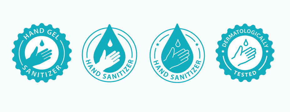 Hand gel sanitizer icon. Vector illustration.