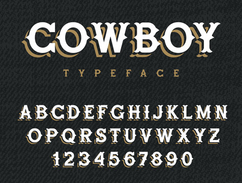 Western font 001