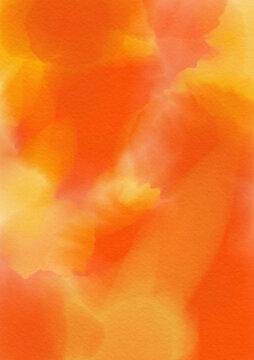 水彩の滲みテクスチャ 秋の紅葉のイメージ