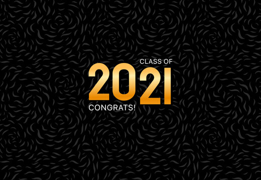 Class of 2021. Vector illustration. Graduation logo. Template for graduation design, party, yearbook