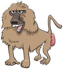 baboon monkey wild animal cartoon illustration