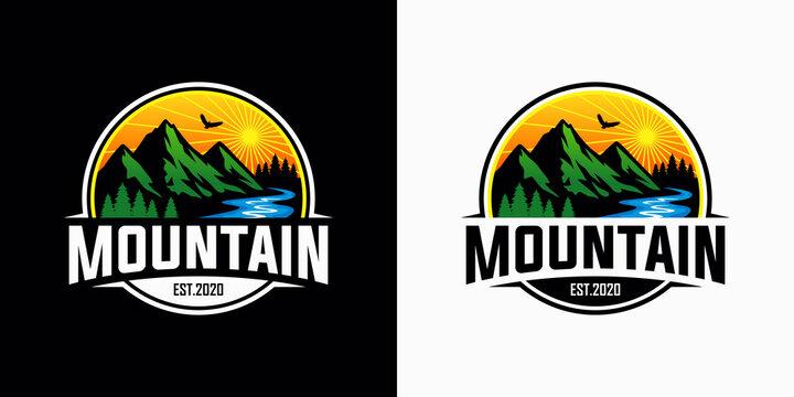 Mountains logo design vector template