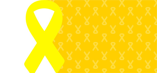 Hope awareness yellow or gold ribbon icon doodles World childhood cancer month, medical symbol in September. child, children symbol of suicide prevention, or endometriosis Sarcoma, bone cancer ribbons