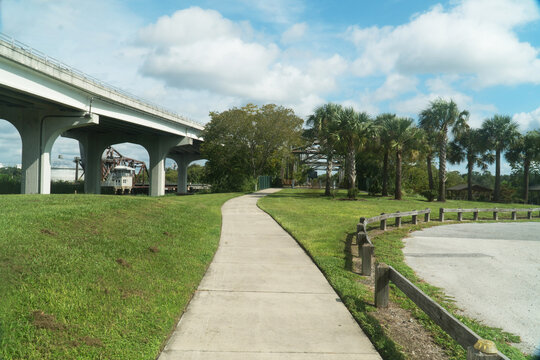 Lake Monroe Wayside Park Seminole County Florida near St John River in the afternoon