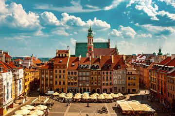 Photo sur Plexiglas Europe de l Est Market square in Warsaw