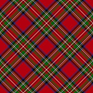 Royal Stewart Modern Tartan Seamless Pattern - Repeating pattern design of Royal Stewart Modern tartan
