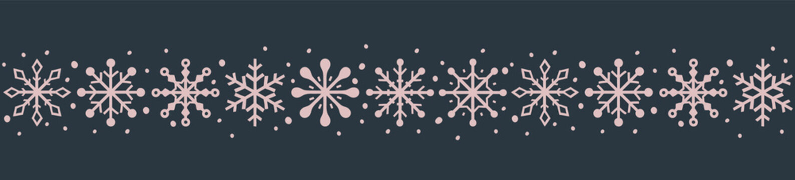 Beautiful Christmas banner with festive snowflakes. Xmas ornament. Vector