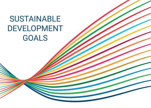 Sustainable Development Goals. Illustration EPS