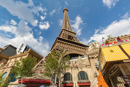 Las Vegas, USA - July 12, 2017: Paris Las Vegas Hotel and Casino in Las Vegas.