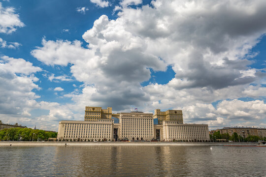 Russia, Moscow - May 19.2017: the building of the Ministry of defence of the Russian federacijeprime on Frunze embankment in Moscow