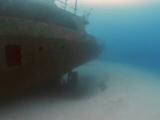 The wreck of the Um El Faroud off the coast of Malta