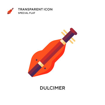 Dulcimer vector icon. Flat style illustration. EPS 10 vector.