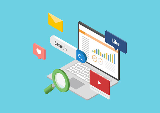 SEO・Web解析ツールのイラスト素材
