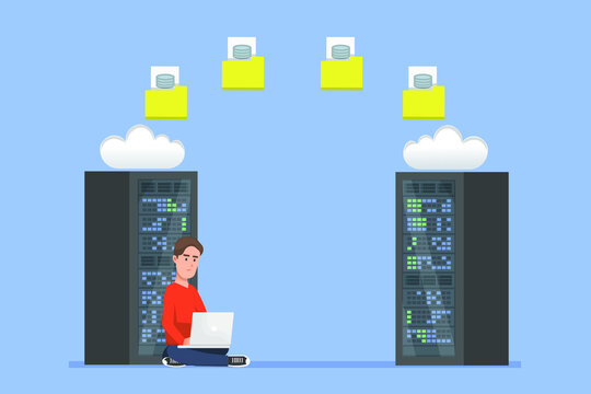 A man in charge of doing server migration