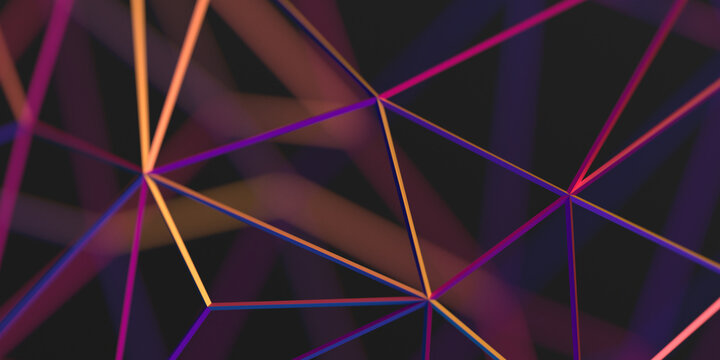 Abstract 3d render, colorful background design, network concept