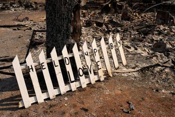 Destruction after wildfires in Oregon
