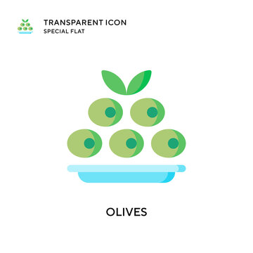 Olives vector icon. Flat style illustration. EPS 10 vector.