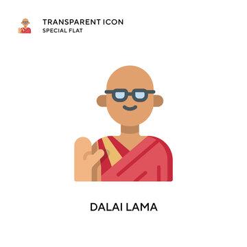 Dalai lama vector icon. Flat style illustration. EPS 10 vector.