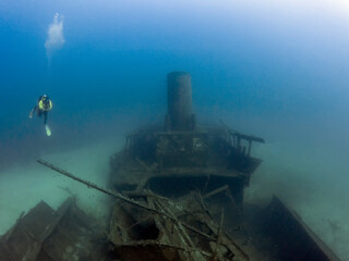 The wreck of the MV Imperial Eagle in Malta