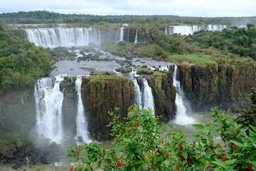 Brazil Foz do Iguacu - Iguazu Falls - Las Cataratas del Iguazu cascades Wall mural