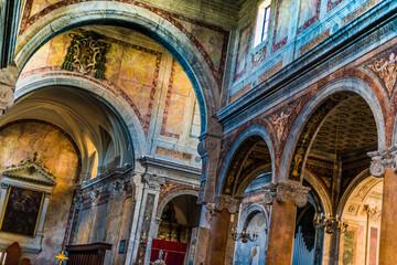 Interior of Ostuni Cathedral in Ostuni, Apulia, Italy
