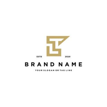 letter LT logo design vector template
