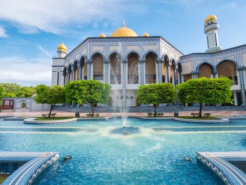 Mosque Jame' Asr Hassanil Bolkiah in Bandar Seri Begawan, Brunei Darussalam
