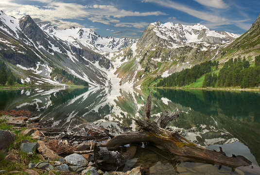 Panorama of the Altai Mountains.