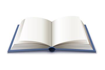 Fototapeta Vector 3d hardcover open book symbol of knowledge obraz