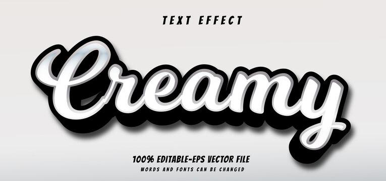 creamy text effect editable vector file text design vector