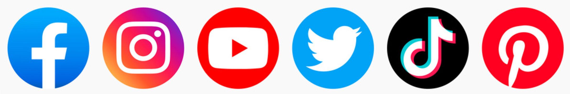 facebook, instagram, twitter, youtube, tik tok,pinterest logo. facebook, instagram, twitter, youtube, tik tok,pinterest jpg. facebook, instagram, twitter, youtube, tik tok,pinterest  download