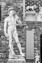 Fototapete - Replica of David statue in Florence, Tuscany, Italy