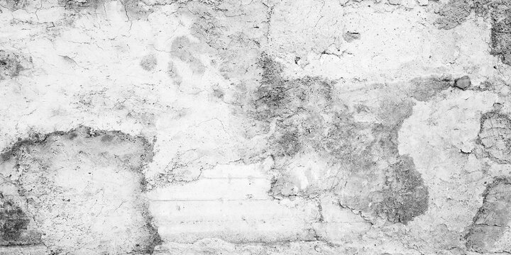 Grungy white concrete wall with stucco texture