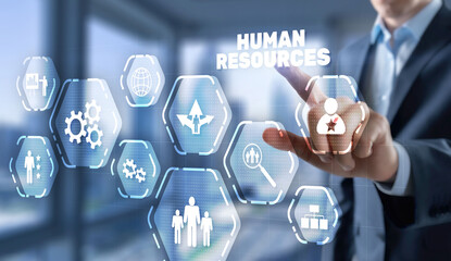 Crisis Human Resources HR management Recruitment Headhunting Concept 2021.