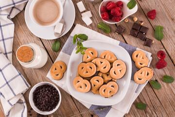 Chocolate Pretzel Cookies.