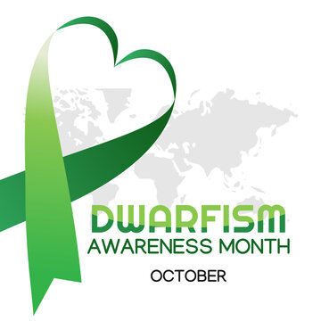 Vector graphic of dwarfism awareness month good for dwarfism awareness month celebration. flat design. flyer design.flat illustration.