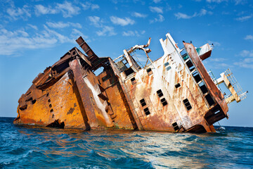 Tarkhankut: sunken ship Ibrahim Yakim