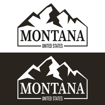 modern Montana USA State letterng logo vector illustration, Montana, USA