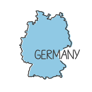 outline of Germany map- vector illustration