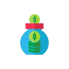 savings flat Icon. bank and financial vector illustration on white background
