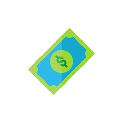 dollar flat Icon. bank and financial vector illustration on white background